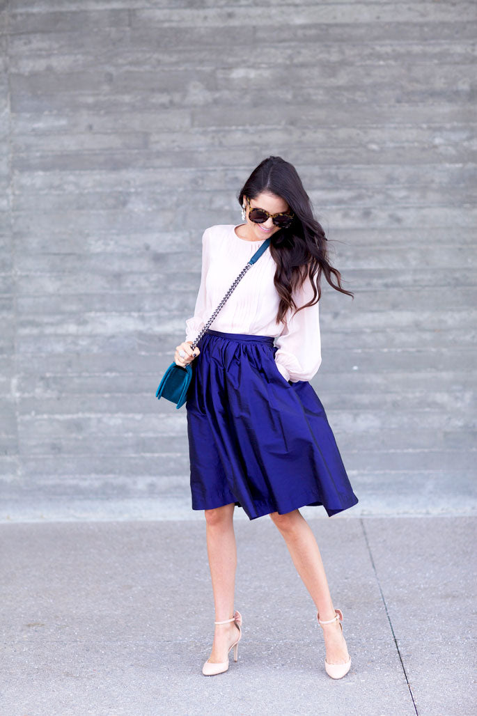 navy-blue-midi-party-skirt