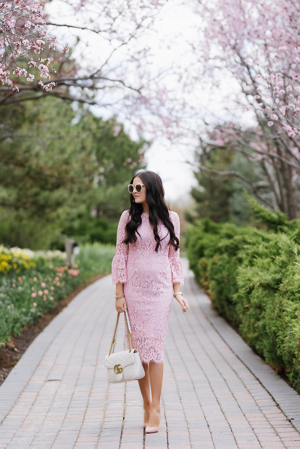 pink-lace-bell-sleeve-dress-rachel-parcell - 5