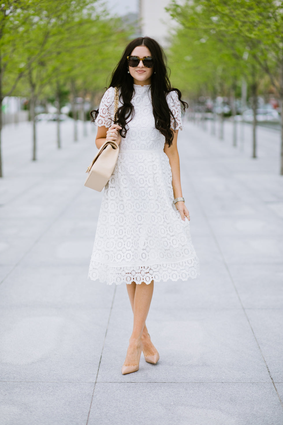 white-lace-dress-rachel-parcell - 5