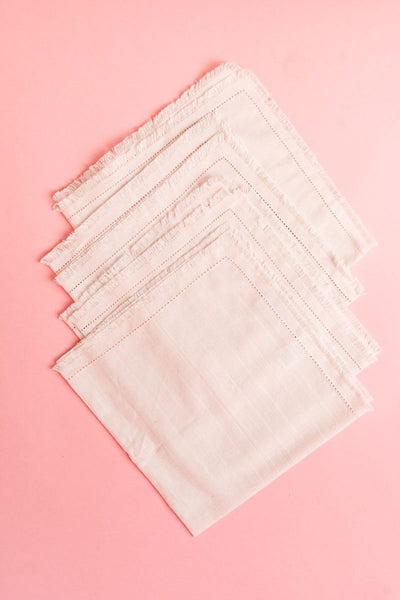 Frayed Napkins, Set of 4 Tabletop Rachel Parcell, Inc.