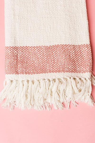 Fringe Woven Throw - Ivory Blankets and Throws Rachel Parcell, Inc.