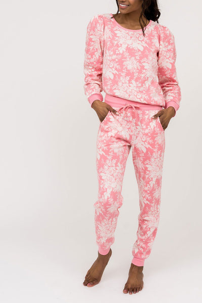 Soft Jogger - Pink Floral Loungewear Rachel Parcell, Inc.