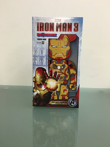 400% Medicom Be@rbrick x Marvel Iron Man Mk 42 Version