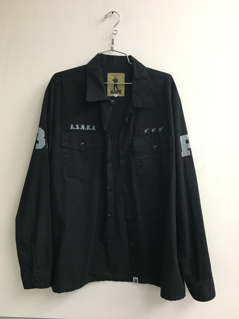 A Bathing Ape ASNKA Army Button Up