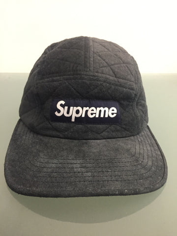 Supreme Quilted Suede 5 Panel Camp Cap