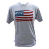 American Flag Tee - Heather Grey