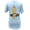 Board Meeting V Neck Tee - Light Blue
