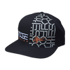 Foose Pattern Snapback - Black with Grey Pattern