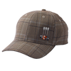 Foose Baseball Cap Plaid - Brown