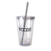 Clear Plastic Tumbler With Straw