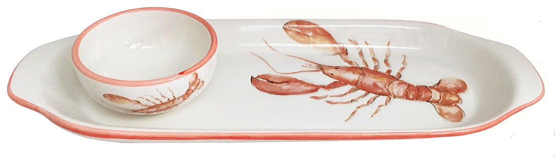 Lobster Tray & Small Bowl Set