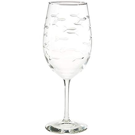 School of Fish All Purpose Wine Glass