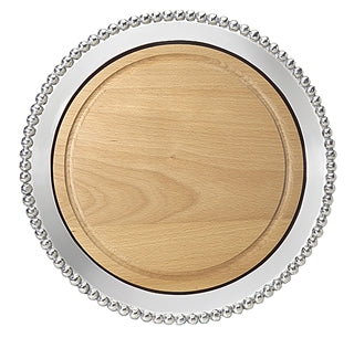 Pearled round cheese board- Maple