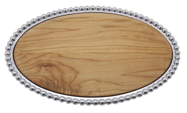Pearled Maple Oval Cheese Board