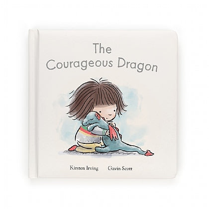 The Courageous Dragon book and Dexter the Dragon stuffed animal