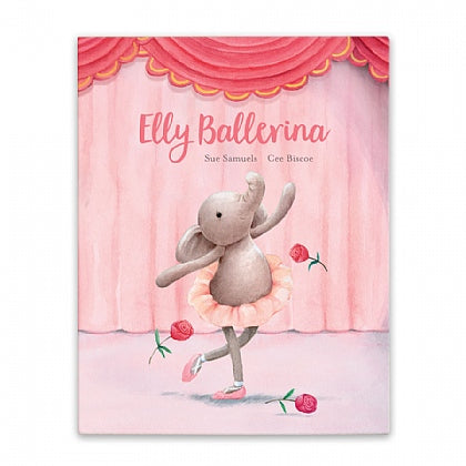 Elly Ballerina book and Dancing Darcey elephant stuffed animal