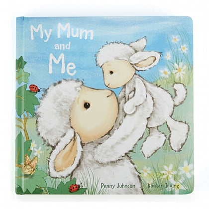 My Mom and Me book and Bashful Lamb stuffed animal