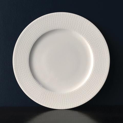 Catch White Dinner Plate Monogramed