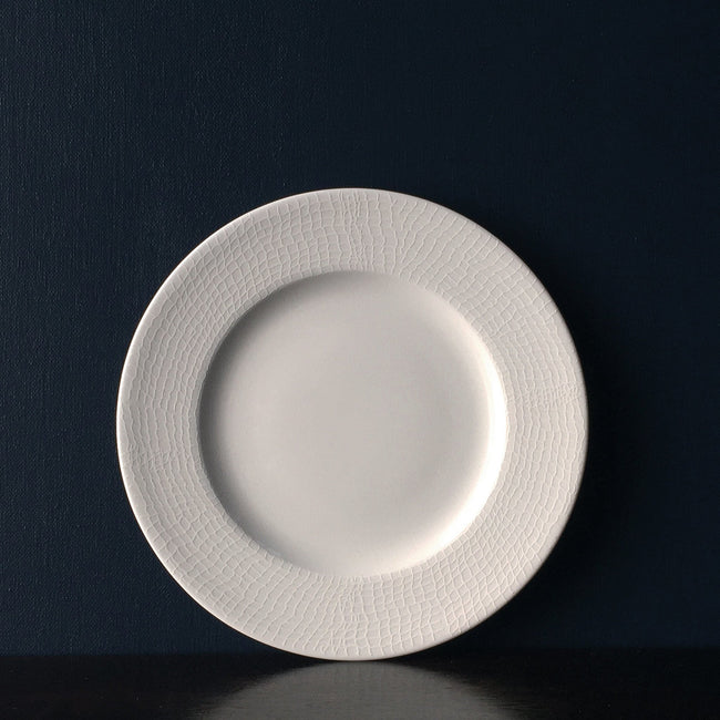 Catch White Salad Plate Monogramed