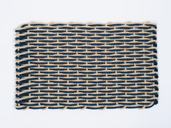 Navy & Light Tan Doormat