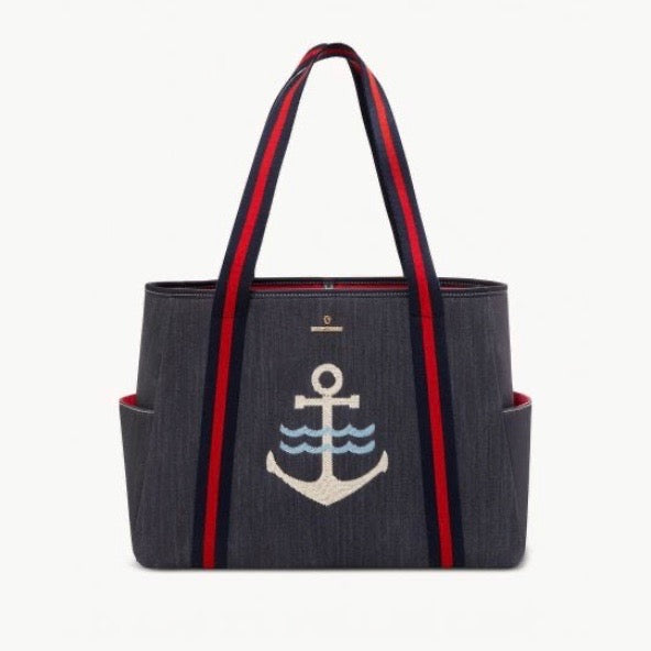 Beach Tote Denim Anchor