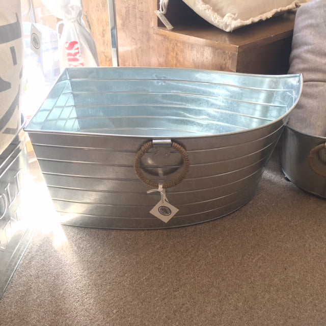 Beverage Boat Tub with Jute Handles