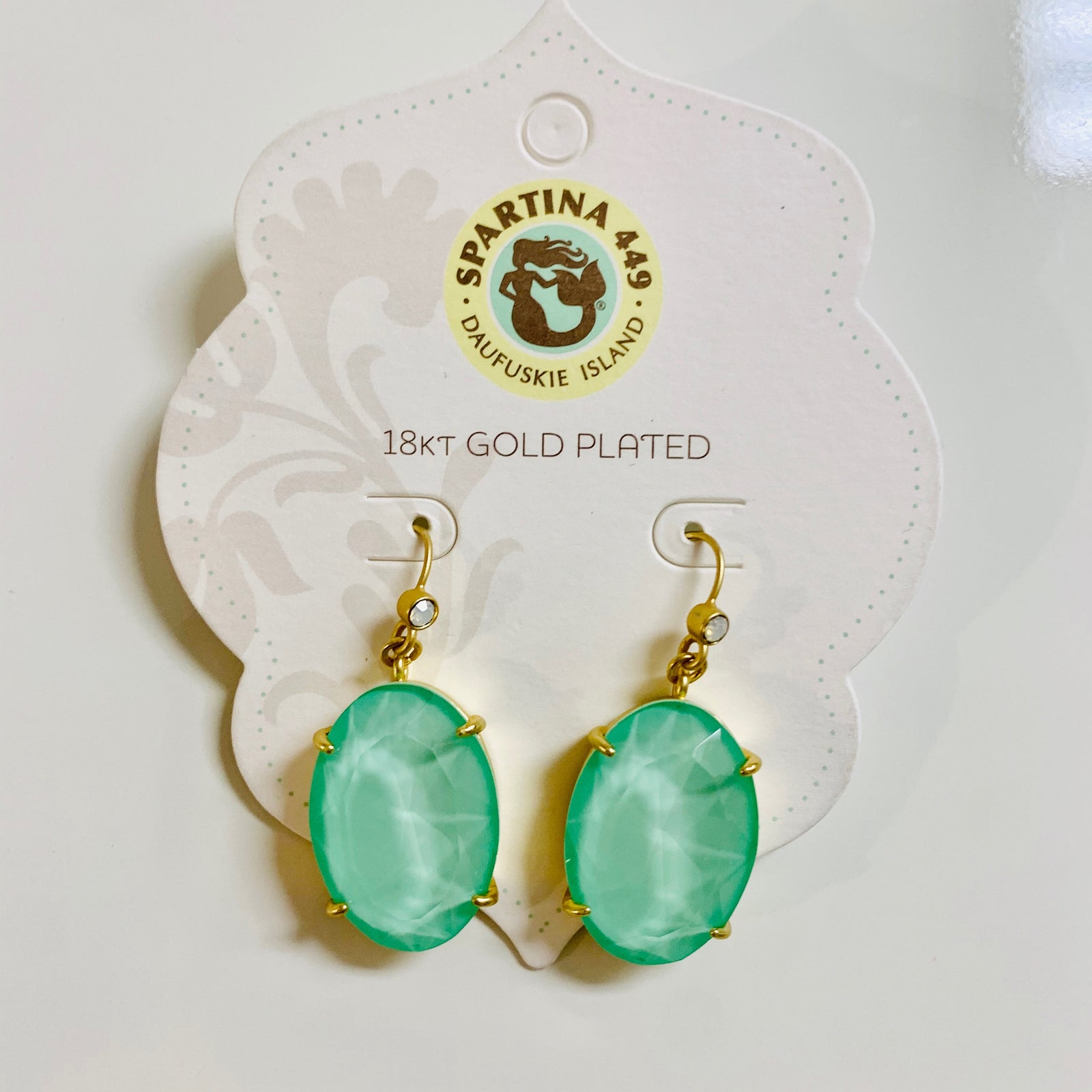 Oval Earrings Seafoam