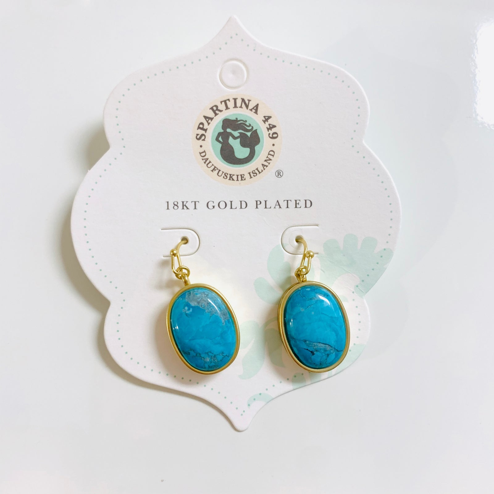 Naia Oval Earrings Turquoise