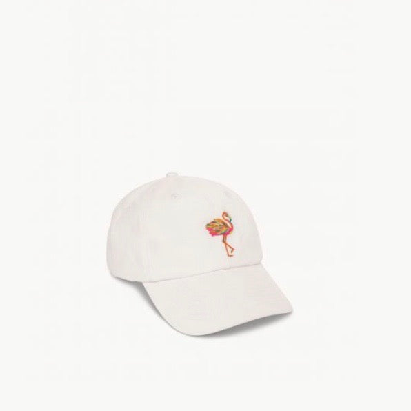 Flamingo Hat White