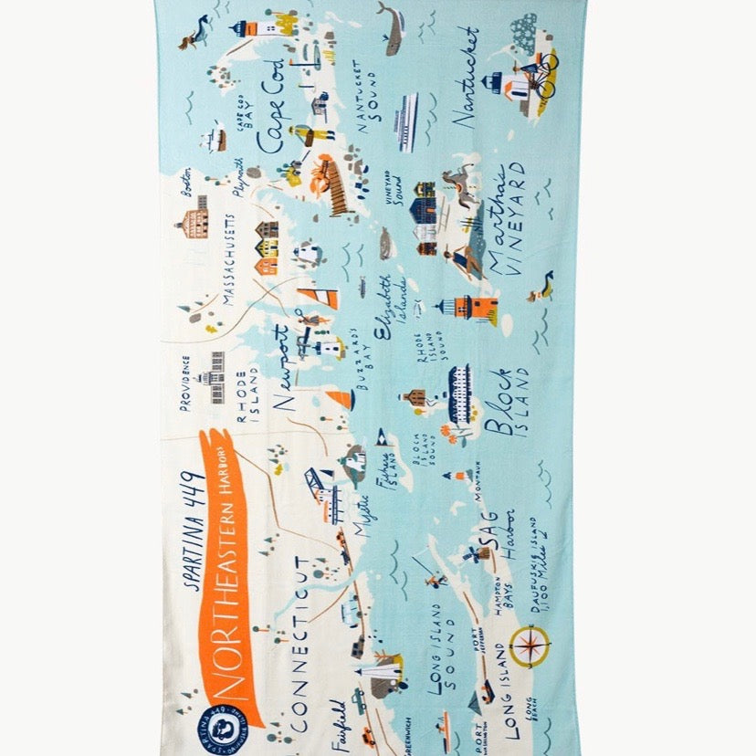 Northeastern Harbor Beach Towel