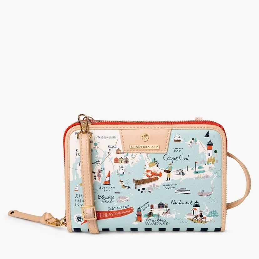 Northeastern Harbors All-in-One Phone Crossbody