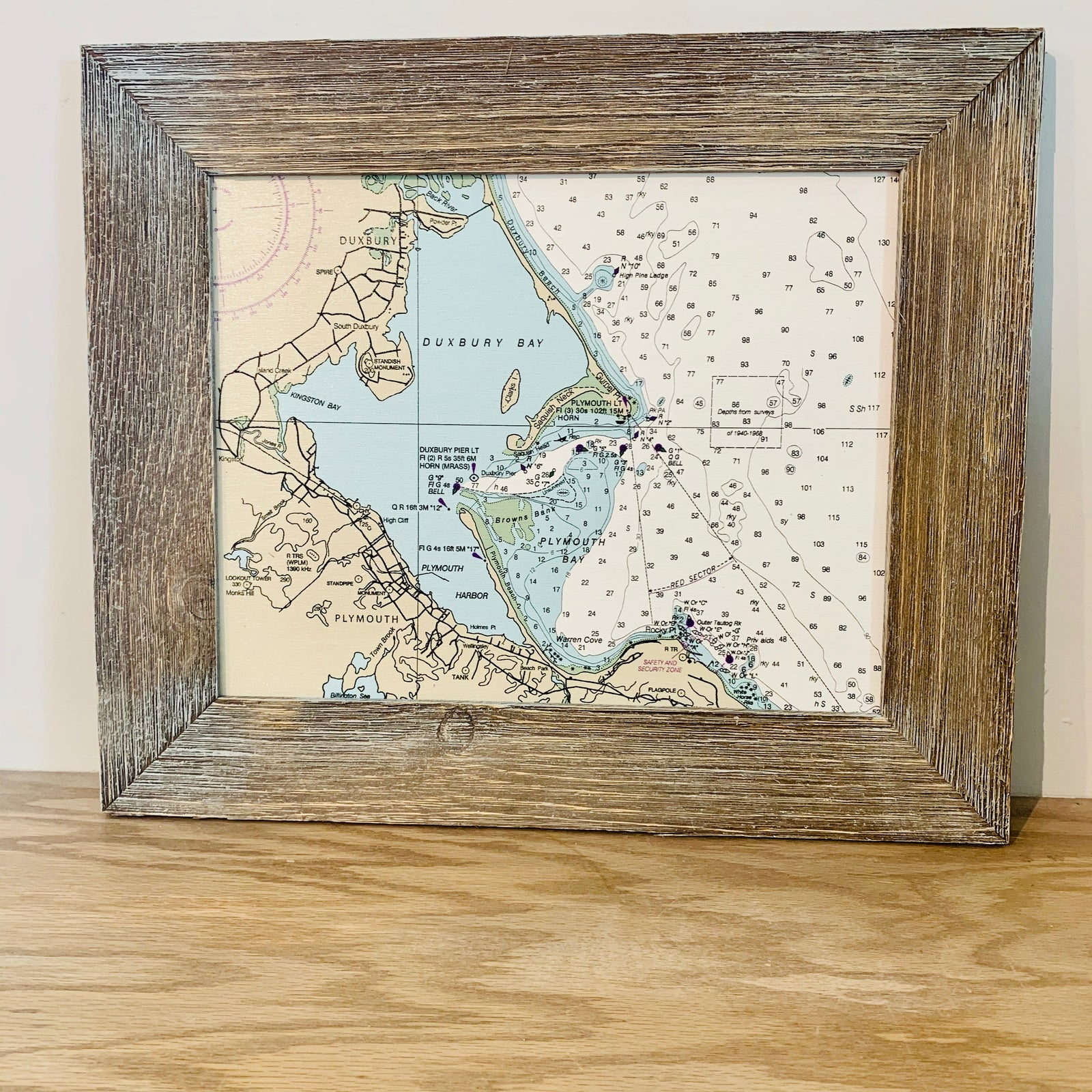 Duxbury Map Chart with Frame