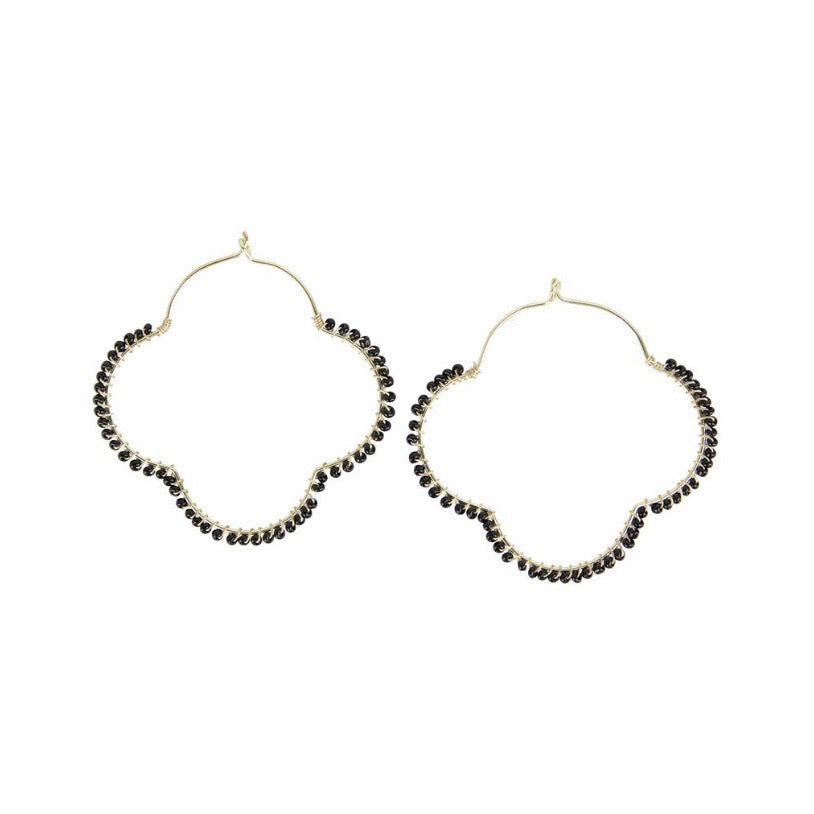 Powell beaded wire hoops