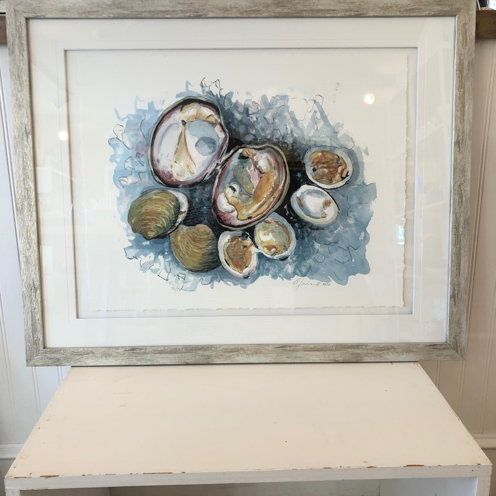 """Clams Float Mount"" 31x25"