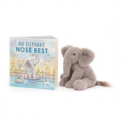 An Elephant Nose Best book and elephant stuffed animal