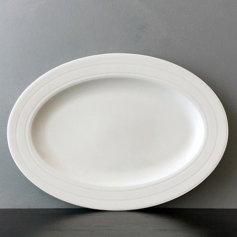 Santorini Flower Narrow Oval Platter
