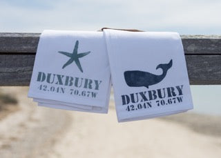 Duxbury map chart with 2 boat cleats
