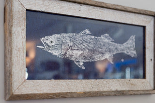 Striped Bass Fish Print