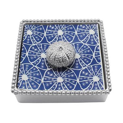 Sea Urchin Beaded Napkin Box