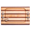 Large Steak Board Multi Stripe w/ Cleat Handles