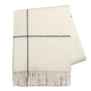 Cashmere and Lambswool Windowpane throw