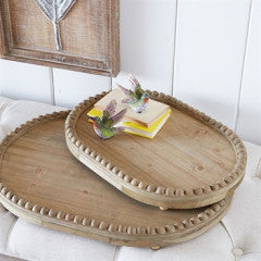 Wood Trays with Wood Bead Set