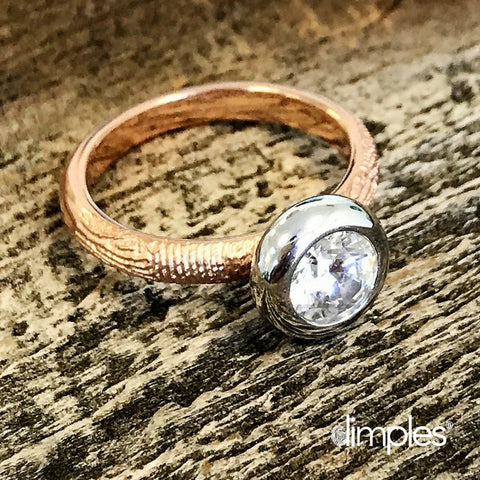 Rose Gold Engagement Ring by DimplesCharms.com