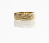 Fingerprint Ring in yellow gold by Dimples available at DimplesCharms.com