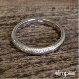 Stackable Fingerprint Ring in White Gold by Dimples available at DimplesCharms.com