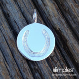 Horse hoof print jewelry by DimplesCharms.com