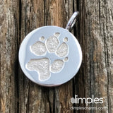 Paw Print Charm by DimplesCharms.com