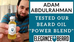 "ADAM ABDULRAHMAN TESTED OUR BEARD OIL ""POWER BLEND"""