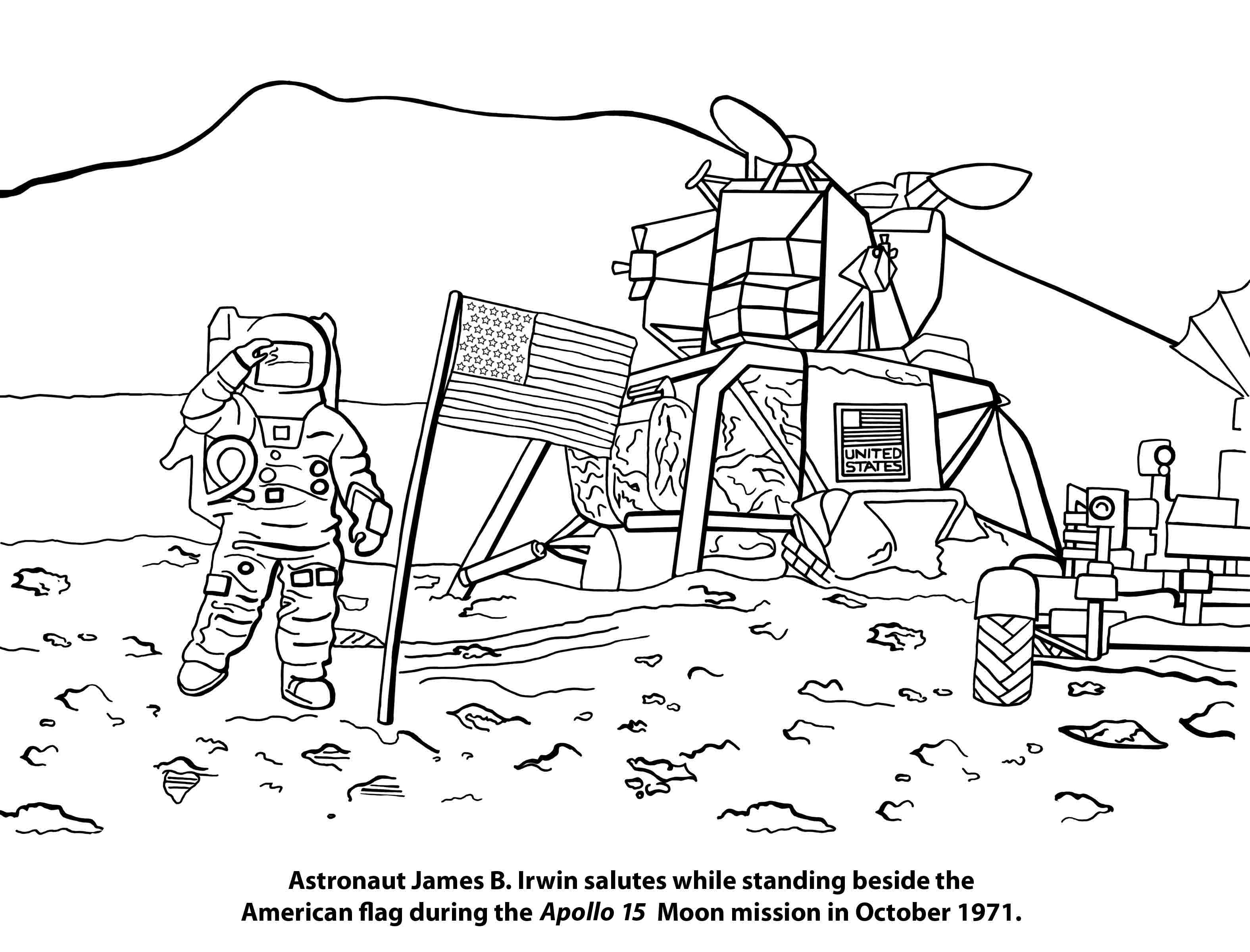 Space Coloring Pages Cont.