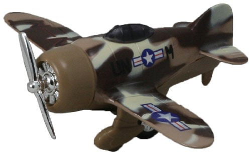 Classic Wing Airplane Pullback - Desert Sand Camo Monoplane